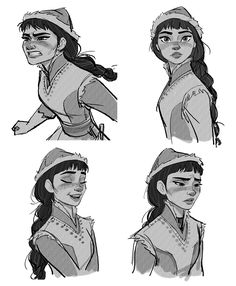 Mais Character Designs do filme Frozen por Jin Kim Character Sketches, Character Design References, Character Drawing, Character Illustration, Character Concept Art, Animation Character, Character Reference, Art Reference, Art Disney