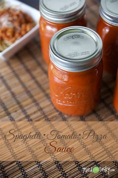 Spaghetti Tomato Pizza Sauce // I love a good sauce that serves more than one purpose! This sauce is awesome on your spaghetti, works great in any recipe that calls for tomato sauce (adding extra flavor) and is the BEST base for any homemade pizza! Trust me, you'll want to add this to your list of canning goods this season! | TriedandTasty