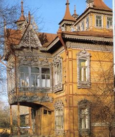 to early century wooden architecture in Russia - Living - Loving - Wooden Architecture, Russian Architecture, Beautiful Architecture, Beautiful Buildings, Architecture Details, Beautiful Homes, Beautiful Places, Architecture Life, Classical Architecture