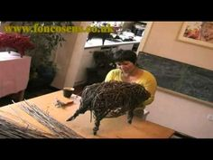 Fon Cosens demonstrates the craft of hand-creating willow sculptures