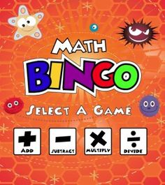 Math BINGO is a fun way for children to practice math facts on the computer. Choose from addition, subtraction, multiplication or division BINGO, then select a level of difficulty. Online Games For Kids, Educational Games For Kids, Educational Websites, Sistema Solar, Math Bingo, Learning Multiplication, Learning Sites, Kids Learning, Dora