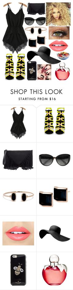 """Pop of Color- Sunny Brunch"" by fashionfaithful13 ❤ liked on Polyvore featuring Pierre Hardy, Sole Society, Givenchy, Lulu*s, Kattri, LORAC, Fiebiger, Kate Spade and Nina Ricci"