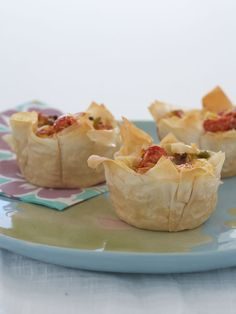 Satisfyingly flakey phyllo pastry tarts