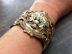 Scottish Thistle Cuff Bracelet. $58.00, via Etsy. Outlander Jewelry, Cuff Bracelets, Bangles, Scottish Thistle, Brass Cuff, Scottish Gifts, Celtic Designs, Irish Celtic, Fashion Jewelry