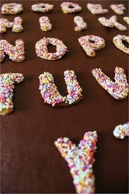 typography shown in doughnuts.