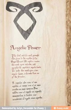 Angelic Power... I can kinda understand the Latin part... So much for learning Latin :/