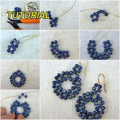 Handmade cercei cobalt   Tutorial