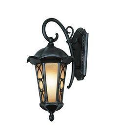 OUTDOOR X 2: Trans Globe Lighting 5941 BRZ One Light Outdoor Wall Lantern in Black Bronze Finish - (1-100w) 20.75h 13w 10 extension $69.95
