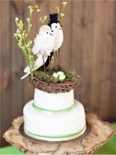 Cute Cake Topper- Birds.