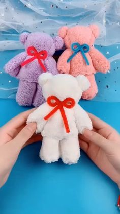 Diy Crafts For Gifts, Diy Arts And Crafts, Cute Crafts, Diy Crafts Videos, Crafts For Kids, Teddy Bear Crafts, Diy Teddy Bear, Towel Crafts, Paper Crafts Origami