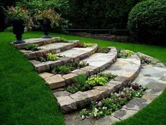 Awesome Sloped Backyard Landscaping Ideas How To Landscape a Sloping Backyard Awesome sloped backyard landscaping ideas. While a house in a hilly area comes with a promise of stunning panoramic vie… Backyard ideas Awesome Sloped Backyard Landscaping Ideas Garden Steps, Diy Garden, Garden Paths, Garden Projects, Shade Garden, Dream Garden, Garden Ideas For Sloping Gardens, Gardens On A Slope, Front Yard Gardens