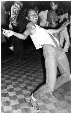 Diana Ross dancing at Studio 54, 1979 (UPI)