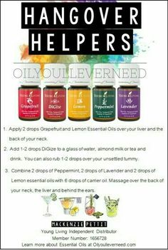 Essential oils for hangover...trying it for Kyle