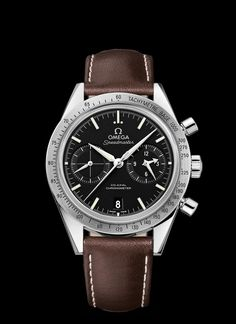 SPEEDMASTER '57 OMEGA CO-AXIAL CHRONOGRAPH 41.5 MM  Steel on leather strap  331.12.42.51.01.001
