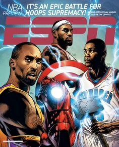You've gotta be kidding me! LeBron is not Captain America! The players all need to rotate counter clockwise...