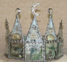 I need a soldering iron-crown by Jeanne Stregles Regal Display, Soldering Jewelry, Soldering Iron, Paper Crowns, Fru Fru, Assemblage Art, Wire Art, Metal Stamping, Mixed Media Art