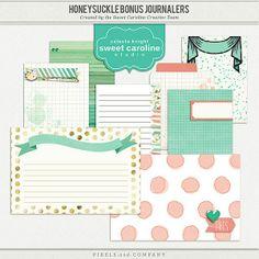Free Honeysuckle Journal Cards from Sweet Caroline Studios {on Facebook}