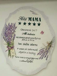 Hotel Mama, Motto, Decoupage, Day, Mottos
