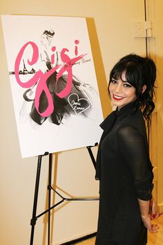 Vanessa Hudgens poses at the 'Gigi' Broadway Press Preview at The New 42nd Street Studios on December 22, 2014 in New York City