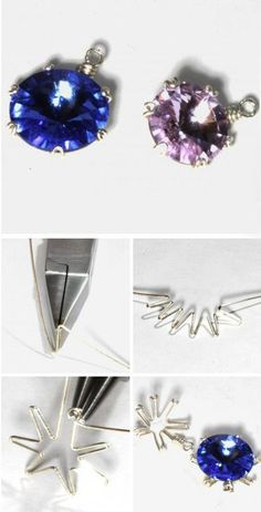 Wire wrap frame for stone. Click on image to see step-by-step tutorial