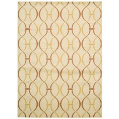 Rug Squared Carlsbad Ivory/ Yellow Rug (7'10 x 10'6)