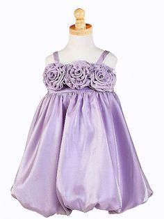 Lilac Triple Rosebud Shimmering Dress