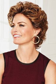 Au Naturel by Eva Gabor Wigs - Lace Front Wig Curly Hair Cuts, Short Curly Hair, Short Hair Cuts, Curly Hair Styles, Short Blonde, Long Hair, Frontal Hairstyles, Curly Bob Hairstyles, Short Hairstyles For Women