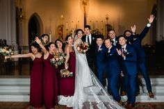 That moment when you know you've got just the right crew to celebrate with. Couple: C+P Photo: Ken Pak Photography That Moment When, Dc Weddings, Bridesmaid Dresses, Wedding Dresses, Wedding Wear, Just Married, Wedding Planner, Couples, Friends