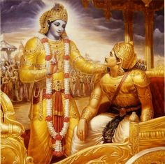 """By Giriraj Swami """"If you simply remember how Krishna is teaching Arjuna and Arjuna is hearing—if you simply remember the picture—that is sufficient. Even if you think that you cannot read. Because …"""