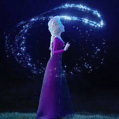 Unicornships - Shipping pairings that don't exist. - Enchanting Elsa in her purple/lavender dress….seems like she's singing in this scene… [Froze - Frozen Disney, Disney Pixar, Princesa Disney Frozen, Arte Disney, Disney Memes, Elsa Frozen, Disney Animation, Disney And Dreamworks, Disney Art