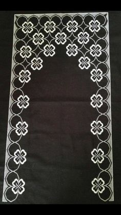 This Pin was discovered by Şen Embroidery Patterns, Hand Embroidery, Sewing Patterns, Islamic Art Pattern, Pattern Art, Black White Pattern, White Patterns, Cross Stitch Designs, Cross Stitch Patterns
