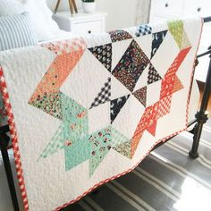 Moda Love Quilt - cute little mini table topper made by happy little cottage- free pattern by Moda - comes in three sizes