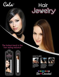 New line of easy to apply Hair Jewels in the UK now