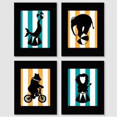 Circus Silhouette Art