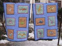 Hand Made by Vave: patchwork: Dinodeky pro Tádu a Máťu