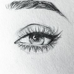 ▷ ideas and inspirations on how to draw eye- ▷ 1001 + Ideen und Inspirationen, wie Sie Auge zeichnen pencil drawings simple, step by step instructions, female eye drawn with pencil - Cool Art Drawings, Pencil Art Drawings, Art Drawings Sketches, Eye Drawings, Drawing Of An Eye, Drawing Art, Drawing With Pencil, Drawing Quotes, Horse Drawings