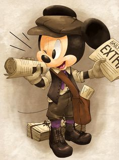 gimme-fandoms:  nonananana:  News paper boy Mickey  There are so many things right with this picture
