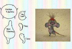 Куклы и Игрушки. Masaa University Paper Mache Animals, Fabric Animals, Fabric Birds, Plush Animals, Stuffed Animal Patterns, Diy Stuffed Animals, Doll Clothes Patterns, Doll Patterns, Tilda Toy