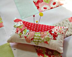 happy little cottage pincushion