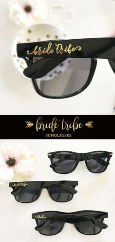 Bride Tribe Sunglasses - Bachelorette Sunglasses - Bridesmaid Sunglasses - Bachelorette Party Favors (EB3217TRB)