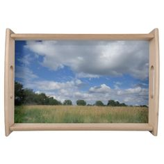 Summer Iowa Prairie Serving Tray by Natural View