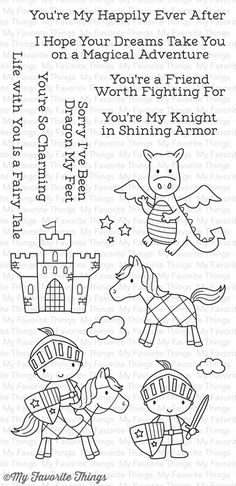 Knight in Shining Armor stamp set #mftstamps