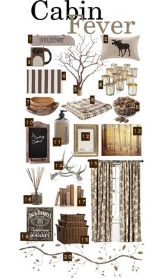 Cabin Fever: Cabin in the Woods, Natural Textures, Wintry Neutrals, Woodsy Accents, Hints of Sparkle, Rustic Retreat   Home Sweet Apt