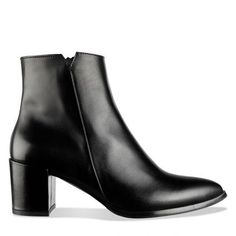 habbot ' Margutta' Women's Leather Boots Melbourne. Italian made Black Calf Leather Boot with zip and block heel for work and casual wear. Block Heel Ankle Boots, Block Heels, Calf Leather, Leather Boots, Project 333, Smart Casual Wear, Black Italians, Vintage Tees, Italian Leather