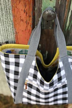 Gingham Poolside Tote