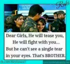 He cant see a single tear drop in your eyes. Tag-mention your brother and sister Bro And Sis Quotes, Brother Sister Love Quotes, Brother And Sister Relationship, Brother Birthday Quotes, Brother And Sister Love, Siblings Funny, Sibling Quotes, Sis Loves, Reality Quotes