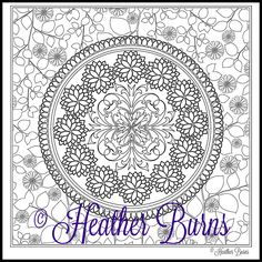 Botanical Mandala To Color Ready For Coloring You Will Receive The Instant Download PDF