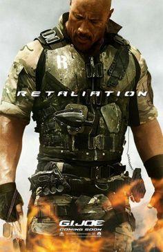 """Dwayne Johnson"" in G.I.Joe 2 Retaliation."