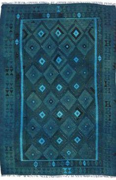 Vendimia Rugs Overdyed KLM586 Teal Rug | Southwestern Rugs