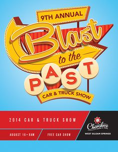 Blast To The Past Event Artwork by carol anne solberger, via Behance